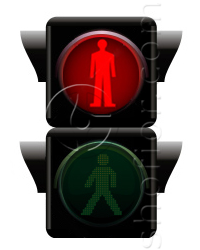 pedestrian traffic lights - red signal