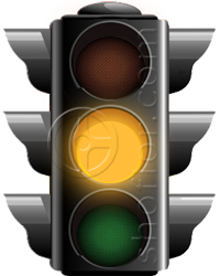 traffic lights - yellow signal