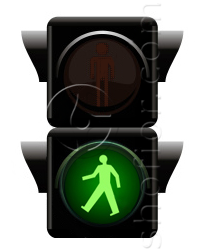 pedestrian traffic lights - green signal