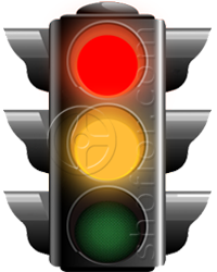 traffic lights - red and yellow signal
