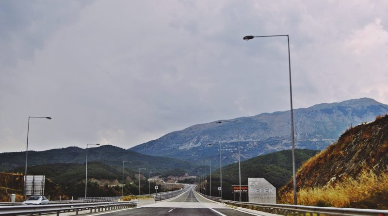 Ionia highway in Greece